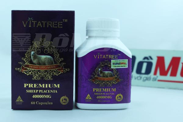 Nhau thai cừu Vitatree 40.000mg 60 viên nhập từ Úc