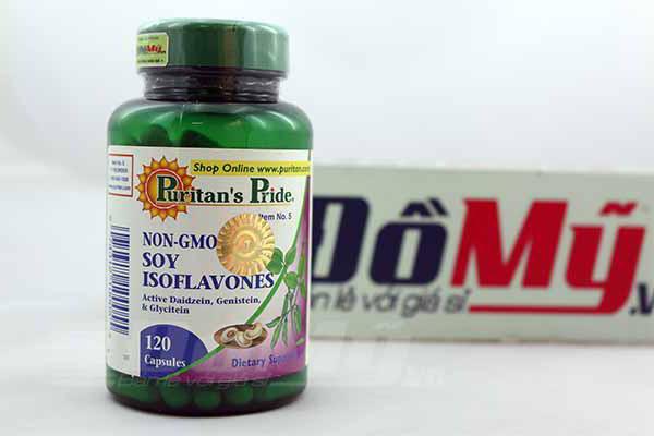 Viên uống bổ giúp tăng cường sức khỏe từ mầm đậu nành Estrogen Non-GMO Soy Isoflavones 120 viên của Mỹ