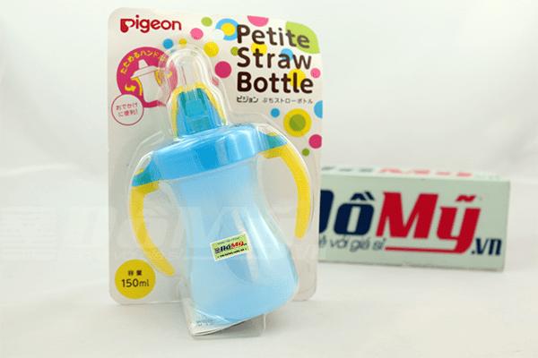 Bình uống nước Petite Straw Bottle - Pigeon