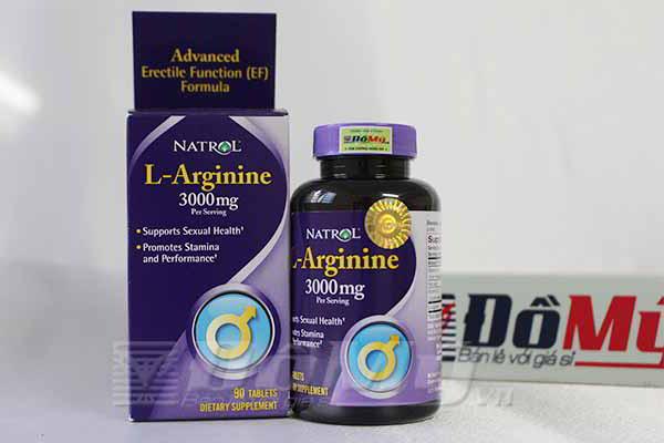 Natrol L-Arginine 3000mg Tăng khoái cảm tình dục