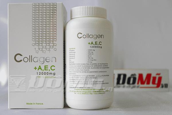 Collagen+A,E,C 12000mg-Viên Uống Đẹp Da Của Pháp