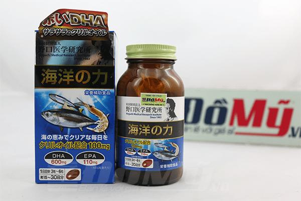 Viên uống bổ não & tăng cường trí nhớ DHA EPA Noguchi Nhật Bản