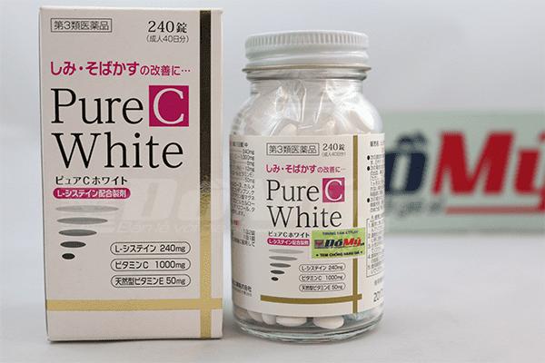 Viên uống trị nám, tàn nhang làm trắng da Pure C White