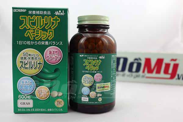Viên uống tảo xanh chống lão hóa Spirulina 600 viên của Nhật Bản
