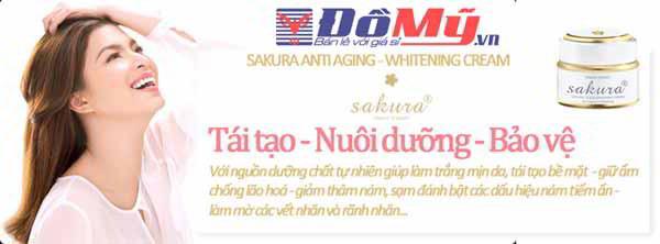 Công dụng của kem dưỡng trắng da chống lão hóa Sakura Anti-Wrinkle Whitening