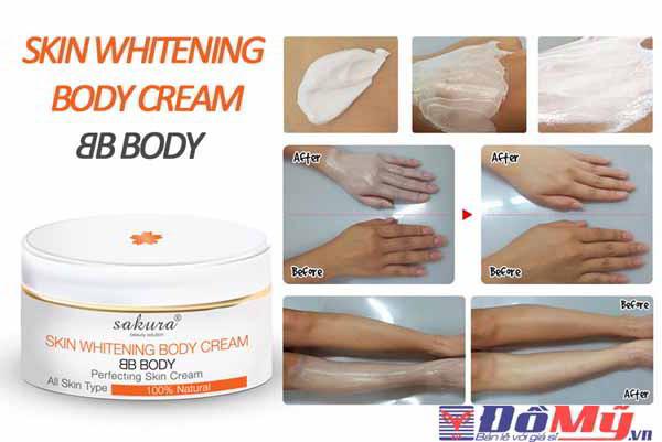 Hướng dẫn sử dụng kem dưỡng trắng da trang điểm Sakura BB Cream