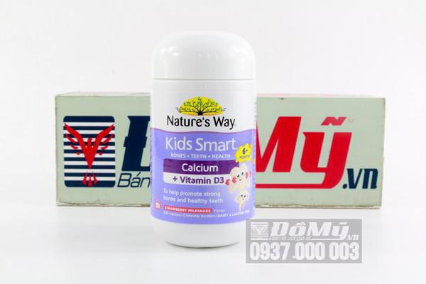 Kẹo bổ sung Canxi cho trẻ Nature's Way Kid Smart Calcium + Vitamin D3 50 viên của Úc