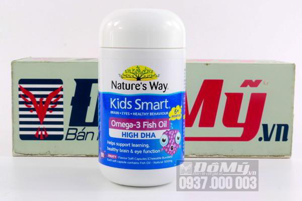 Kẹo dẻo Nature's Way Kid Smart Omega -3 Fish Oil 50 viên của Úc