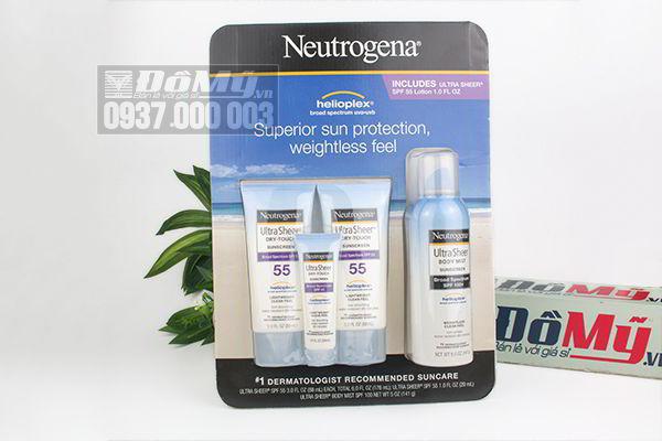 Set 4 tuýp kem chống nắng Neutrogena Ultra Sheer của Mỹ