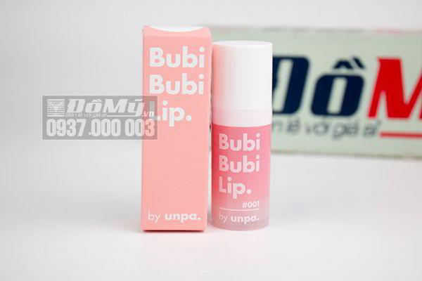 Tẩy tế bào chết môi dạng sủi bọt #001 Bubi Bubi Lip 12ml của Hàn Quốc