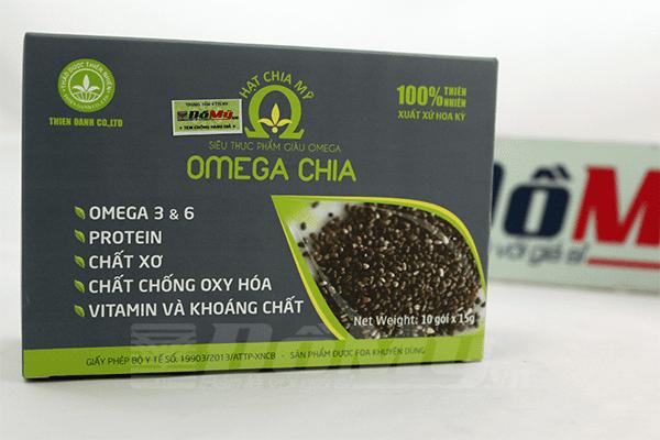 Hạt Chia Mỹ Omega Chia hộp bé