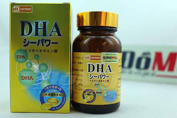 Viên uống bổ sung DHA MK Customer hộp 120 viên của Nhật Bản