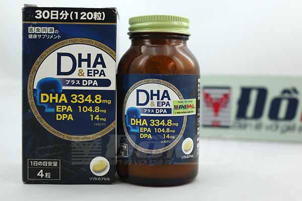 Thuốc uống bổ sung DHA EPA & DPA của Nhật hộp 120 Viên
