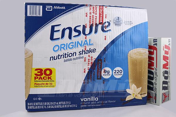 Sữa Ensure nước hương vanilla 237ml nhập từ Mỹ dành cho mọi lứa tuổi