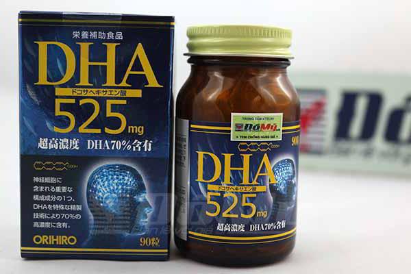 Tăng cường trí nhớ ORIHIRO DHA 525 Nhật Bản 90 viên