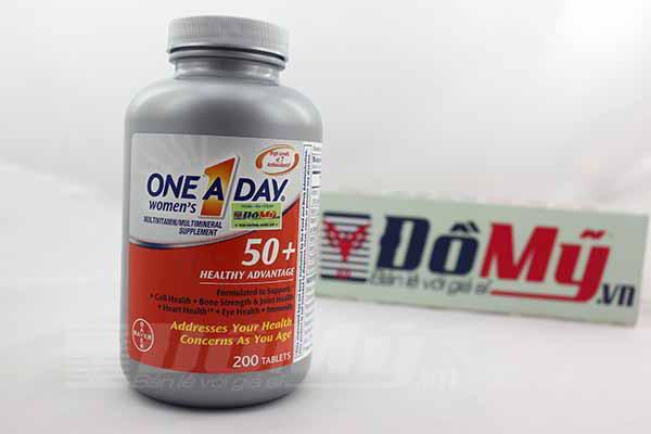 One A Day® Women's 50+ Advantage 200 viên, Vitamin hàng ngày cho phụ nữ