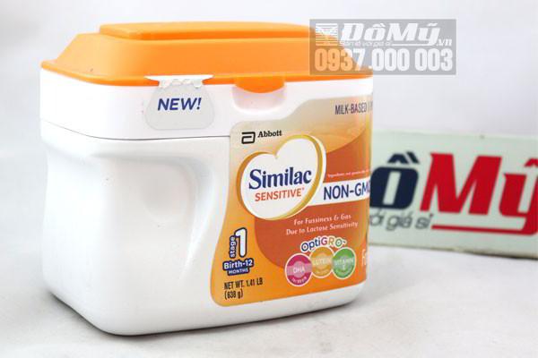 Sữa Similac Sensitive NON-GMO dành cho bé từ 0-12 tháng 638g nhập từ Mỹ