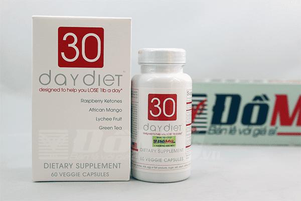 Giảm cân 30 Day Diet 60 Viên của Mỹ