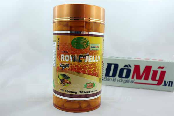 Sữa Ong Chúa đẹp da, chống lão hóa Royal Jelly GreenWorld 1600mg 365 viên của Úc