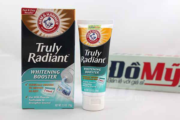 Kem đánh răng giúp làm trắng răng hiệu quả Truly Radiant hộp 70g của Mỹ