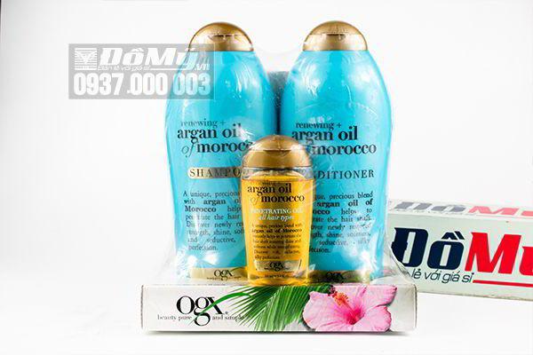 Bộ dầu gội & xả OGX Renewing Argan Oil Of Morroco Shampoo & Conditioner của Mỹ