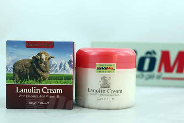 Kem dưỡng da nhau thai cừu Lanolin Cream Placenta Vitamin E của Úc loại 100g