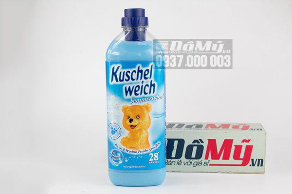 Nước xả vải Kuschelweich xanh dương 1000ml của Đức