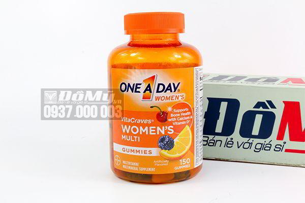 Kẹo dẻo tổng hợp Vitamin dành cho nữ One A Day Women VitaCraves Gummies 150 viên của Mỹ