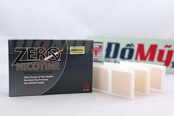 Miếng dán cai thuốc lá Zero Nicotine của Mỹ