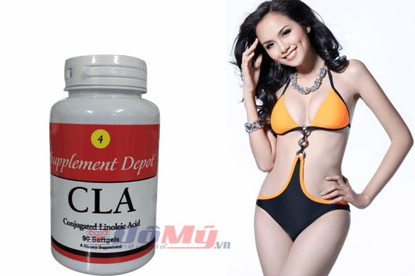 CLA - USA giúp giảm mỡ bụng, mỡ đùi an toàn & hiệu quả