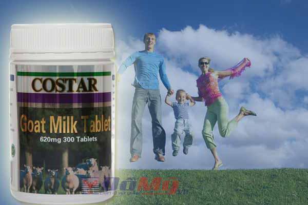 Sữa dê Costar Goat Milk Tablet 620mg 300 viên của Úc