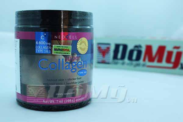 Bổ sung Vitamin C NeoCell Collagen Type 1&3 dạng bột hàm lượng cao 6.600mg 198g của Mỹ