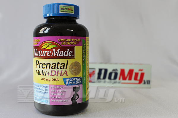 Thuốc bổ cho bà bầu Nature Made Prenatal Mutil DHA 150 viên
