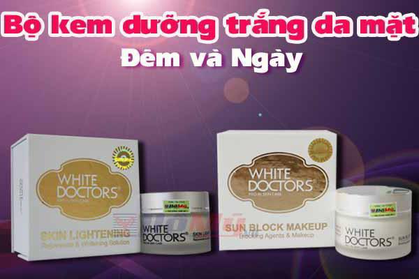Bộ đôi dưỡng trắng da mặt ngày và đêm White Doctors