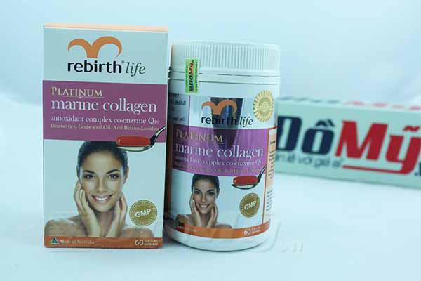 Viên uống chống lão hóa Marine Collagen Rebirth 60 viên Úc