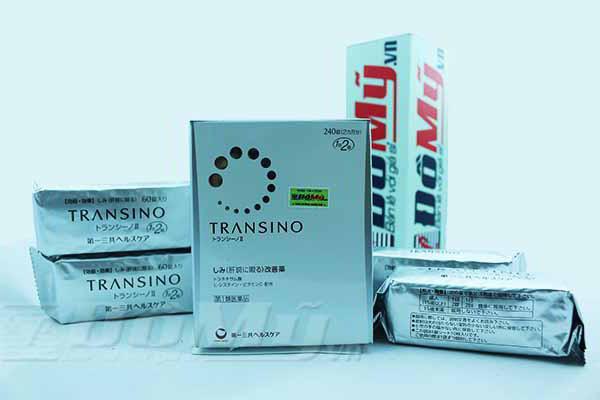 Viên uống Trị nám, tàn nhang và làm trắng da Transino Whitening hộp 240 Viên Nhật Bản