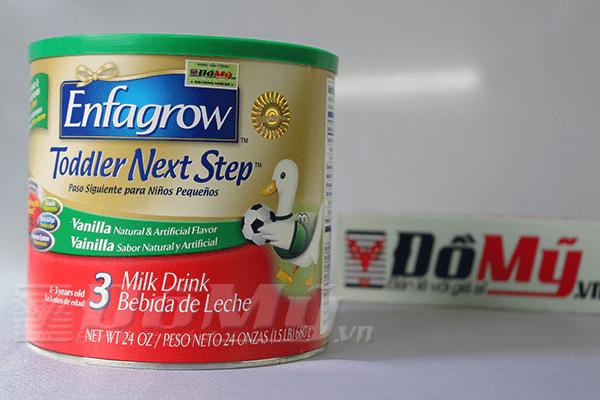 Sữa Enfagrow Older Toddler Vanilla số 3 Mỹ 680g dành cho bé 1-9 tuổi