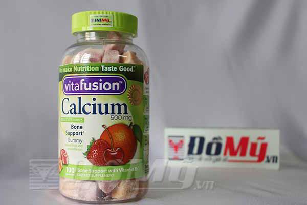Kẹo dẻo vitamin dành cho người lớn Calcium 500mg Gummy 100 viên của Mỹ
