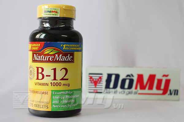 Bổ sung Vitamin B12 Nature Made® 1000 mcg của Mỹ