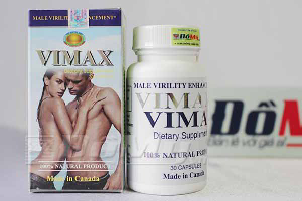 Viên uống Vimax Vimax Tăng kích thước dương vật - Lọ 30 viên - Canada