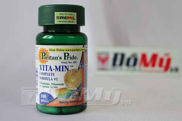 Vitamin Complete của Puritan's Pride chứa 56 vitamin và khoáng chất của Mỹ