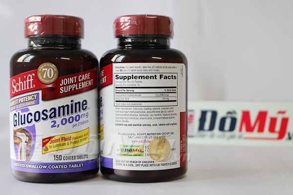 Viên bổ khớp Schiff Glucosamine Hcl 2000mg 150 viên của Mỹ