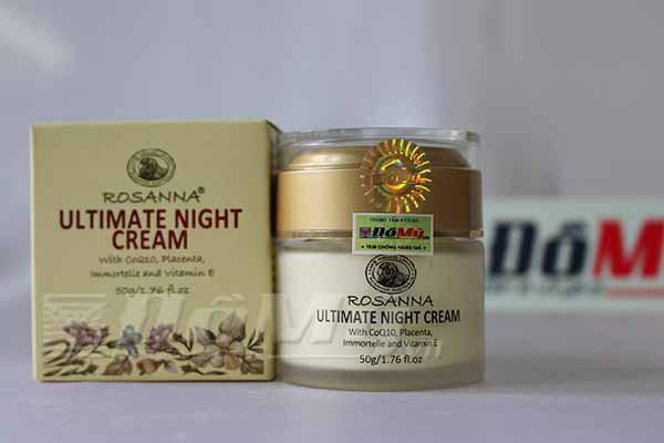 Kem dưỡng trắng da Rosanna Ultimate Night Cream của Úc loại 50g
