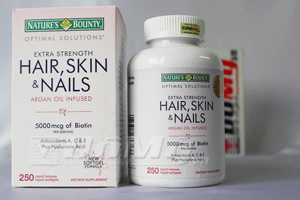 Vitamin Làm Đẹp Da, Tóc, Móng Hair Skin and Nails Natures Bounty 250 viên
