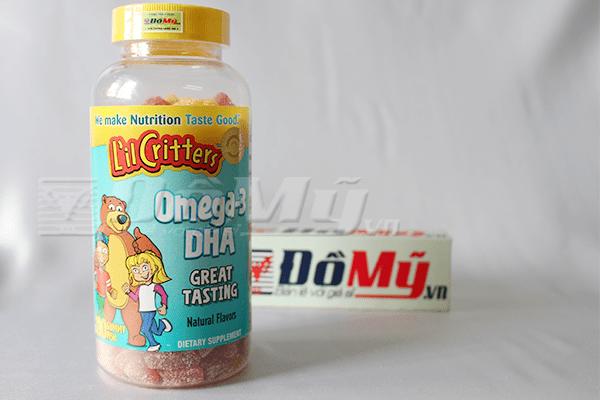 L'il Critters® Omega-3 DHA Gummy Fish™ - Kẹo gấu dẻo OMEGA-3. Lọ 180 viên