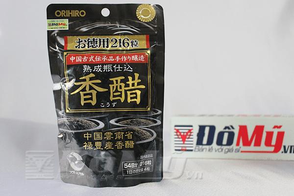 Dấm đen giảm cân Nhật Bản Orihiro 216 viên