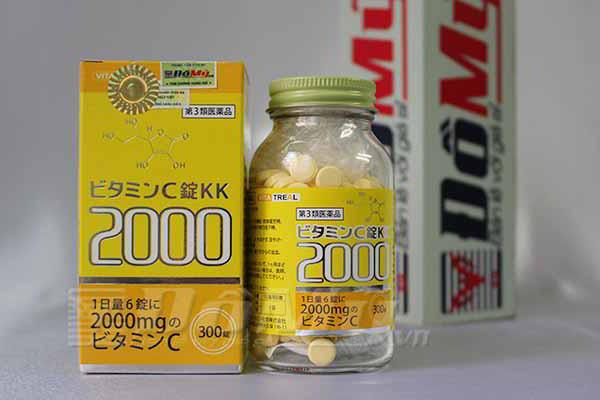 Viên uống làm trắng da Vita Treal Vitamin C JYOU KK 2000 hộp 300 viên của Nhật Bản