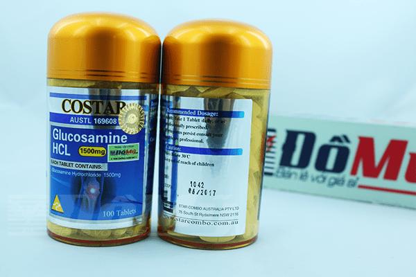 Viên uống bổ khớp Glucosamine 1500mg Costar 100 viên mới
