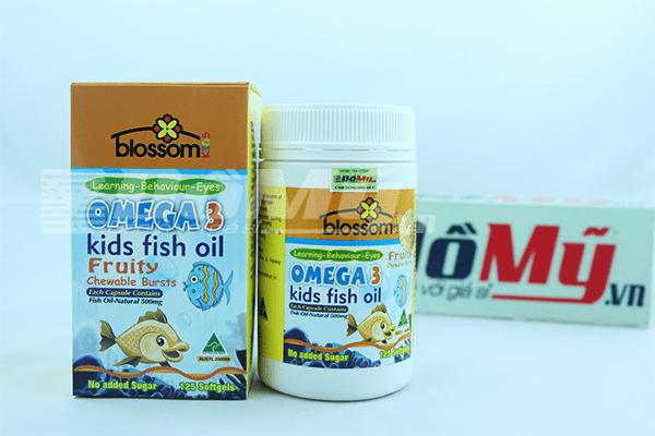 Dầu cá trẻ em Omega 3 Kids fish oil Blossom 125 viên