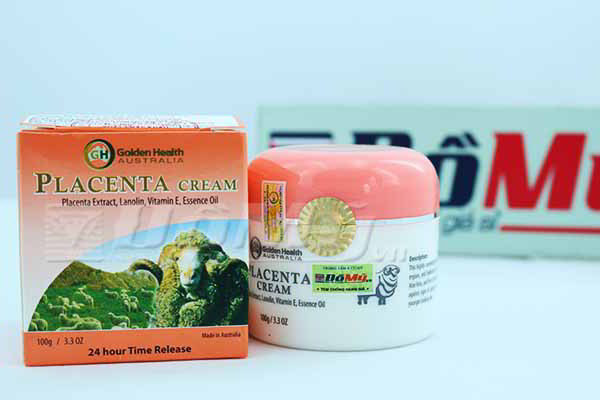 Kem dưỡng da nhau thai cừu Golden Health Placenta Cream của Úc loại 100g